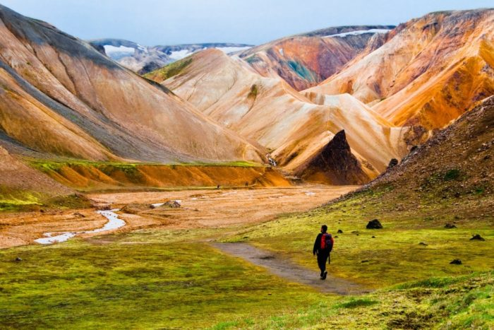 Landmannalaugar trail south iceland