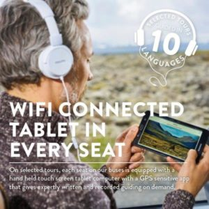 wifi connected tablet in every seat