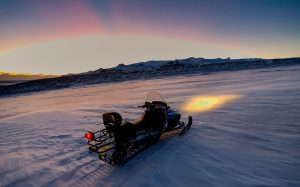 snowmobiling on vatnajokull