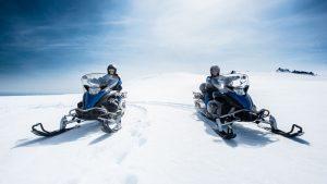 snowmobiling in Vatnajokull