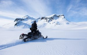 fast pace snowmobiling