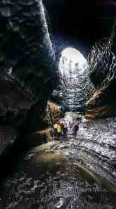 ice caving adventure