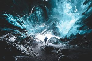 crystal ice cave iceland - 2 day south coast tour