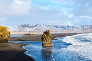 reynisfjara black sand beach iceland - 2 day south coast tour