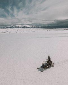 snowmobile glacier