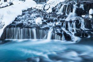 Hraunfossar waterfalls
