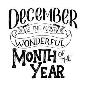 December is the most wonderful month of the year