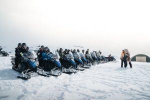 glacier snowmobile