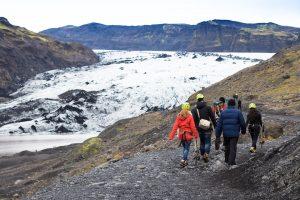 glacier hiking iceland