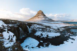 Snaefellsnes Kirkjufell Winter