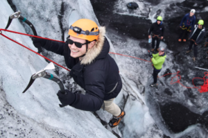 Ice climb solo