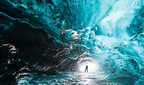 Ice Cave, Glacier Lagoon & Northern Lights Search | Full-Day Tour from Reykjavik​