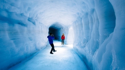 Snowmobile + Ice Cave | Into the Glacier