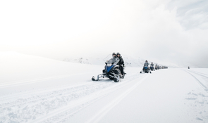 Snowmobile & Natural Ice Cave Tour in Langjokull Glacier​