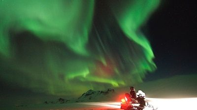 Northern Lights & Snowmobile from Gullfoss | Perfect Winter Combo
