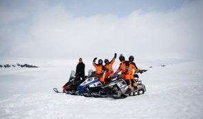 Snowmobile Myrdalsjokull Glacier