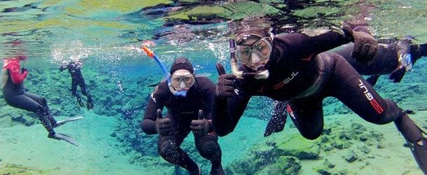 Wetsuit Snorkeling in Silfra   Free Photos